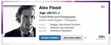 perfil falso en Linkedin