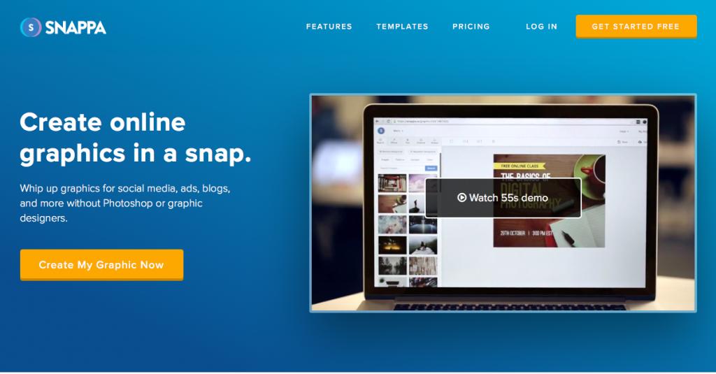 diseño de imágenes para redes sociales -Snappa