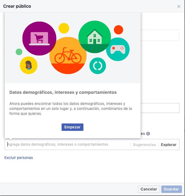 anuncios de Facebook: crear público