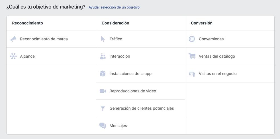 Crear anuncios de Facebook: estrategia